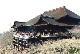 京都清水寺-懸空聳立的壯觀古剎