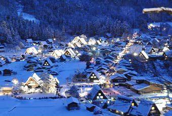 黑部立山(立山黑部)合掌村雪燈節