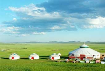 蒙古希拉穆仁草原