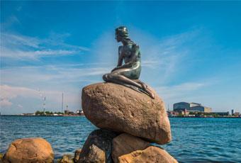 北歐哥本哈根的人魚雕像