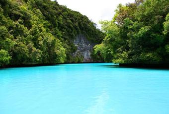 帛琉牛奶湖 milky way