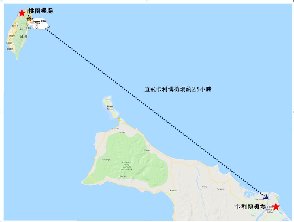長灘島飛行時間