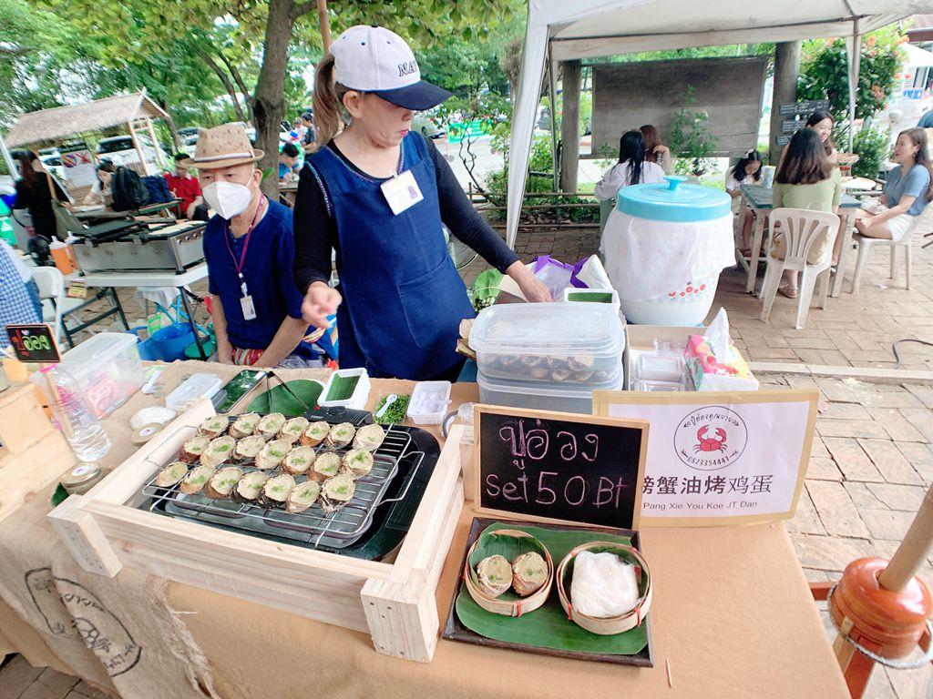 泰式傳統小吃螃蟹油烤雞蛋-jingjaimarket
