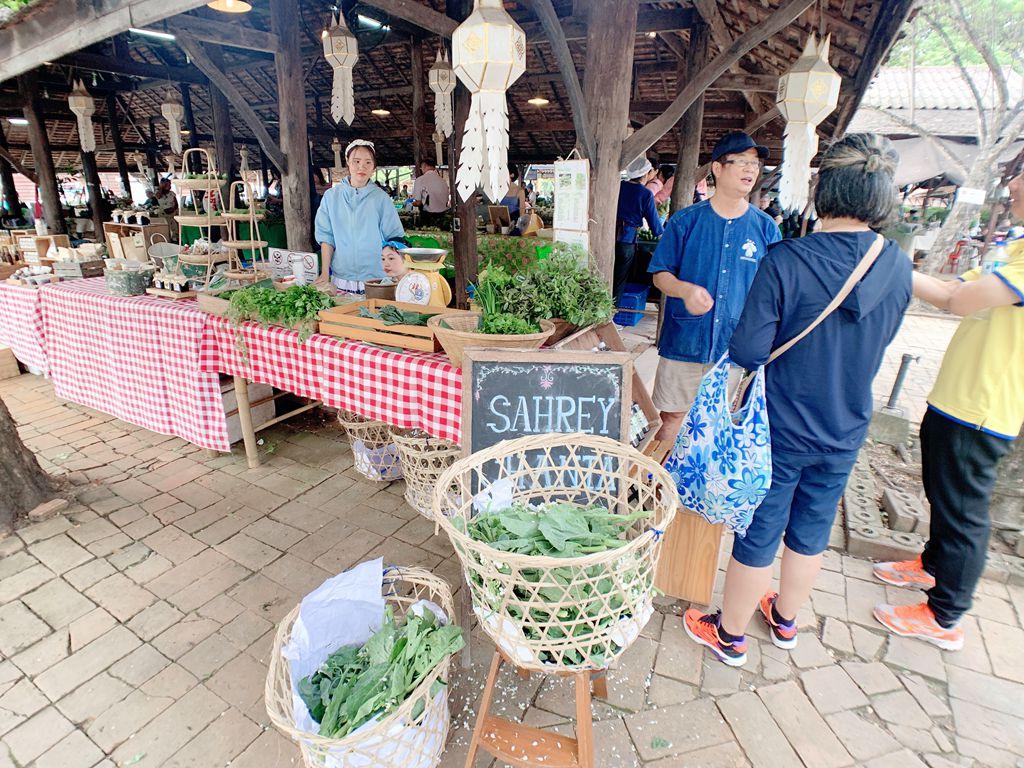 泰國清邁jingjaimarket農夫市集-有機蔬菜