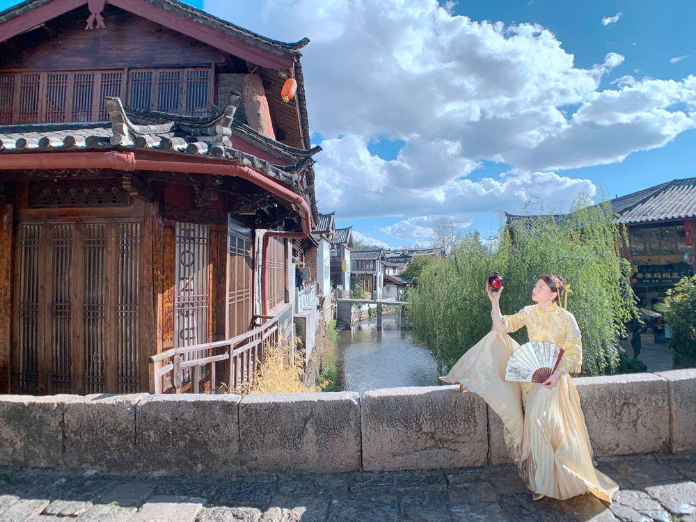 麗江旅遊束河古鎮