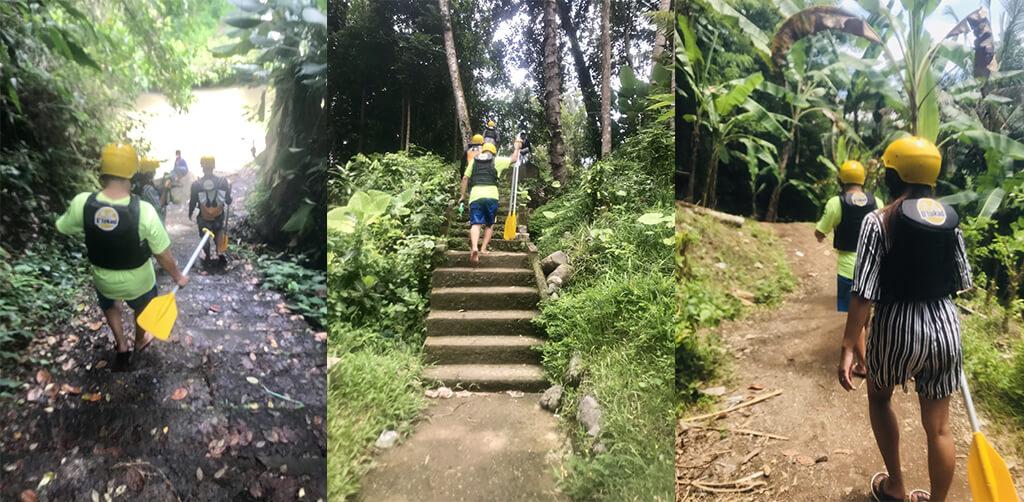 峇里島的自然景區,沿途的石階有些微青苔稍滑