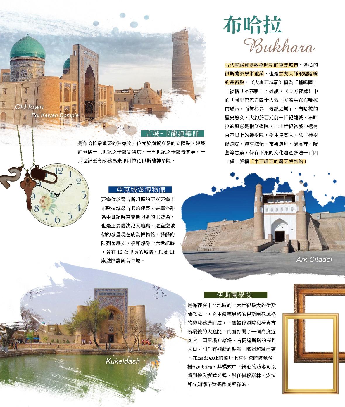 布哈拉 卡龍建築群 亞克城堡博物館 伊斯蘭學院