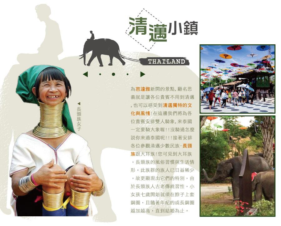 清邁小鎮(泰北少數民族 騎象體驗)
