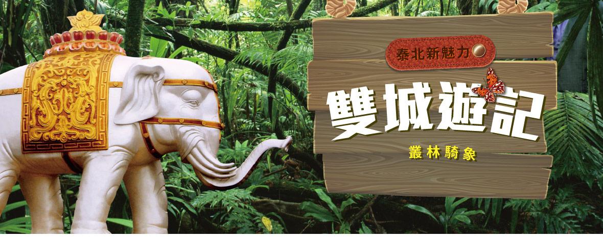 【亞航假期】泰北雙城遊記叢林騎象超值5+1日遊