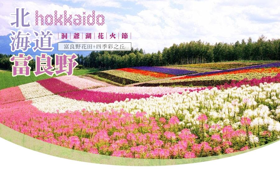 北海道富良野+四季彩遊園賞花+洞爺湖花火節(千函)五日-長榮