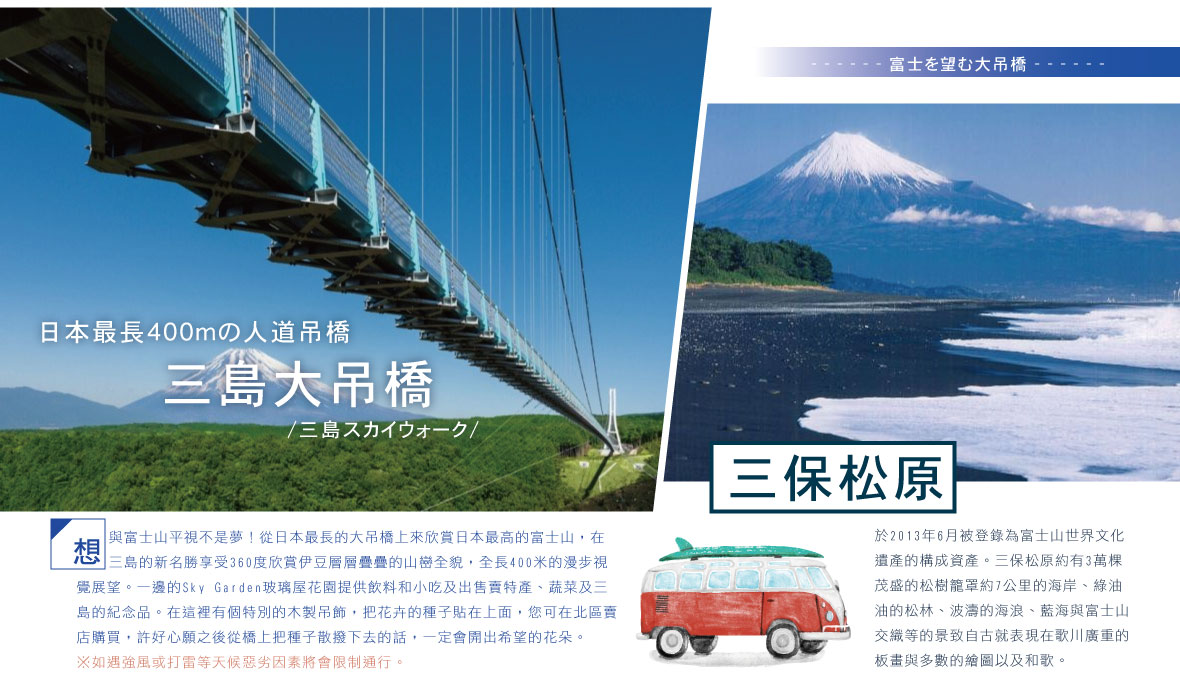 三保松原 三島大吊橋