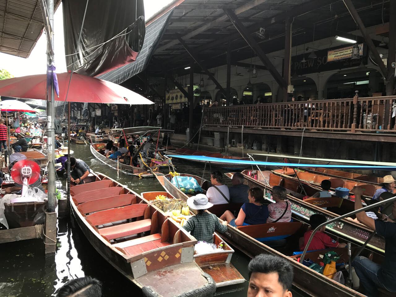 泰國海島自由行路線推薦:丹嫩沙多水上市場