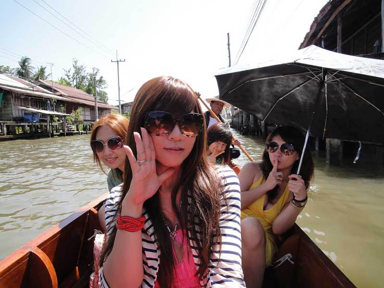 泰國海島自由行路線推薦:丹嫩沙多水上市場遊船