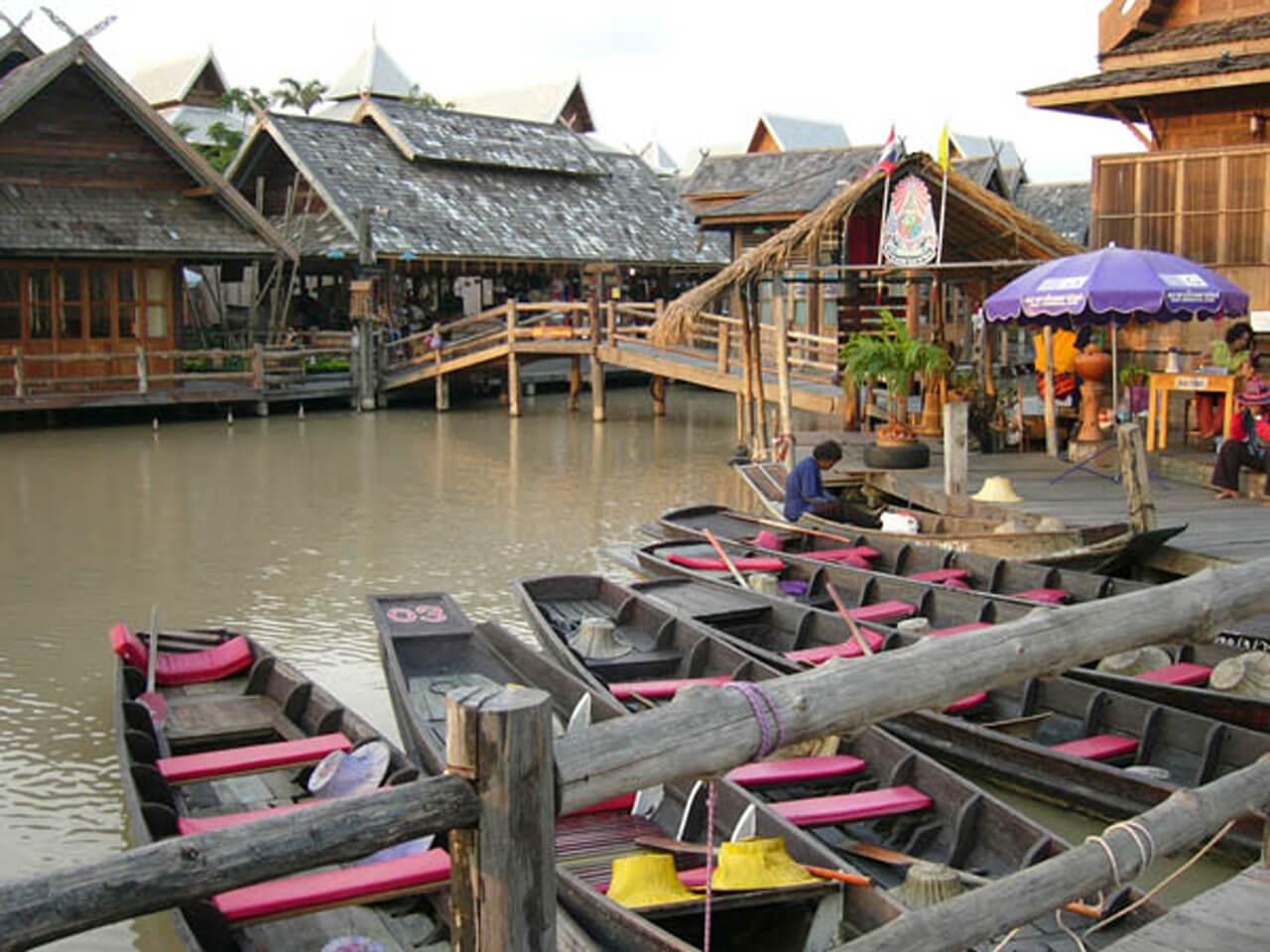 泰國海島自由行路線推薦:四方水上市場